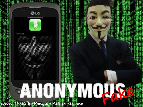 Screen Anonymous Fake